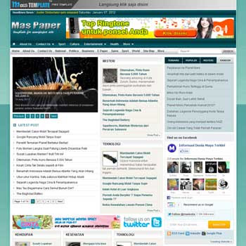 Mas Paper blogger template. clean template for blogger template. portal news blogger template