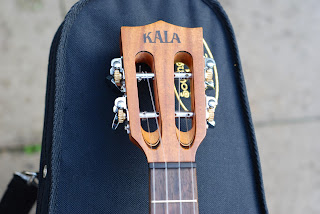 Kala All Solid Acacia Tenor ukulele slotted headstock