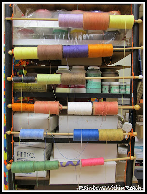 photo of: Art Room Organization (from Art Room RoundUP via RainbowsWithinReach)