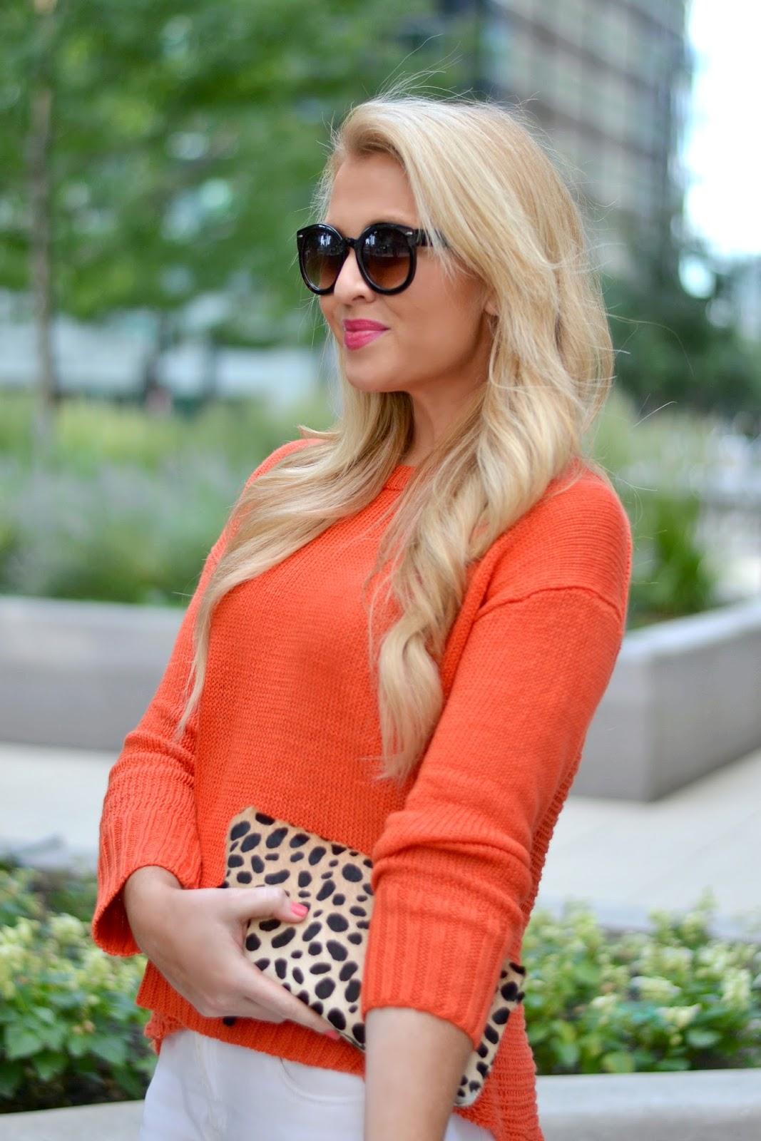 orange sweater for fall