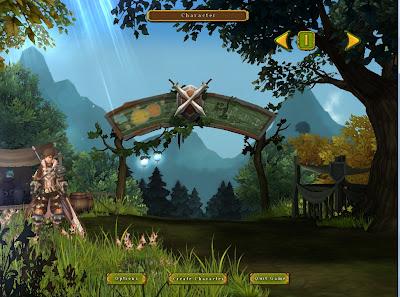 Tampilan Halaman Pilihan Karakter Ragnarok Online 2