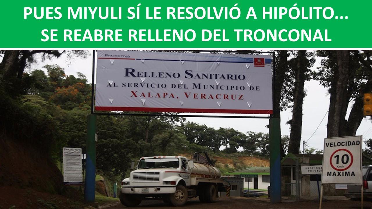 SE REABRE RELLENO DEL TRONCONAL