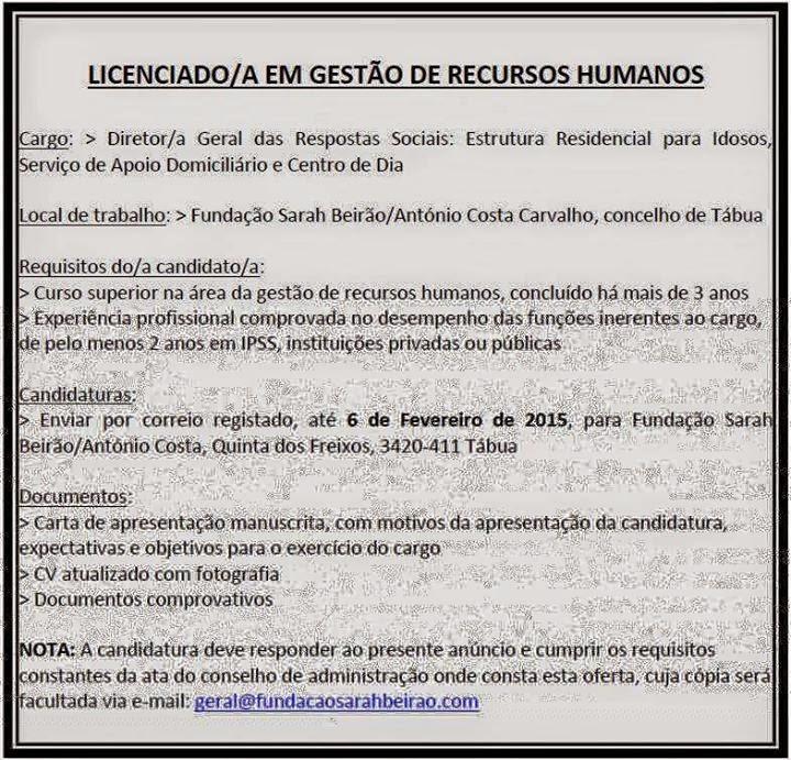 emprego na area de recursos humanos