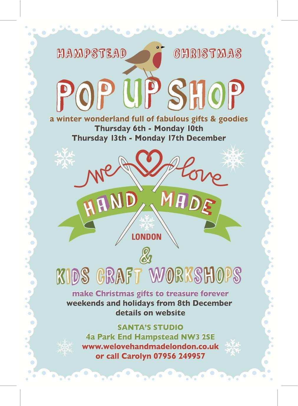 London Pop Ups We Love Handmade Pop Up Shop And Kids