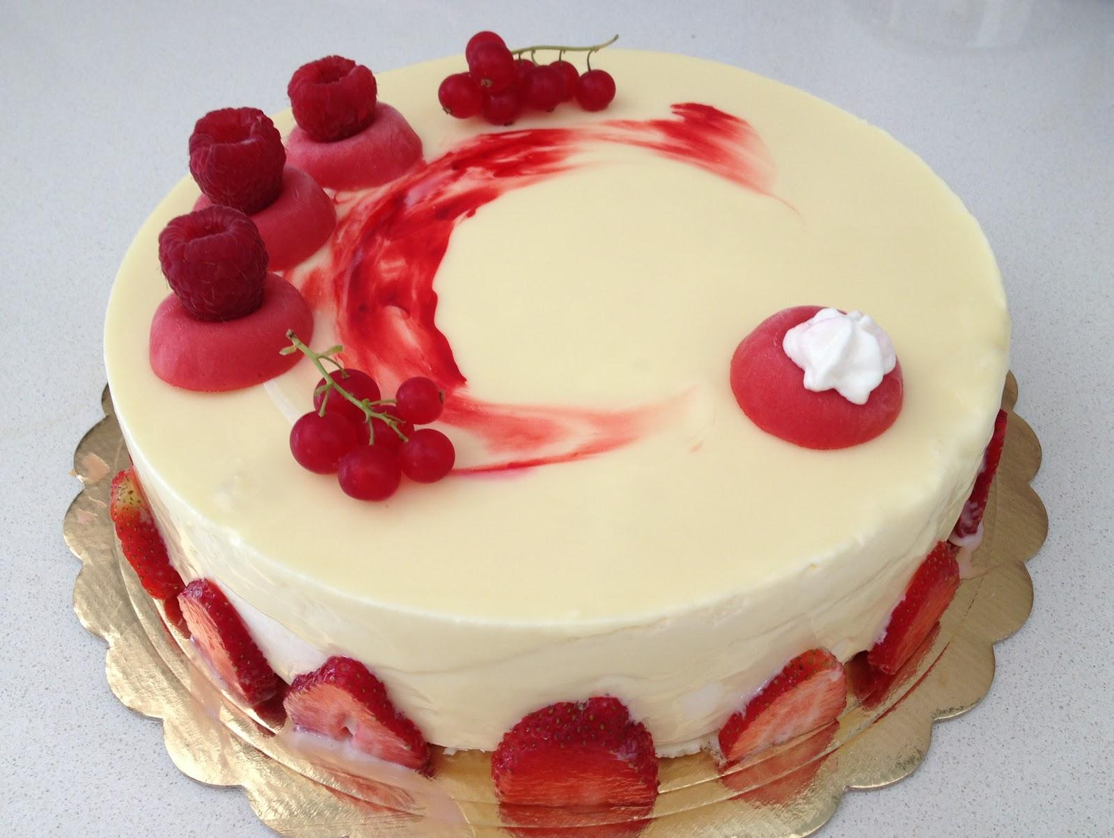 La pasticcioneria torta perla rubino di luca montersino - Decorazioni torte con glassa ...