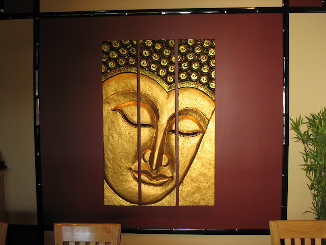 Beautiful wall art at Golden Buddha