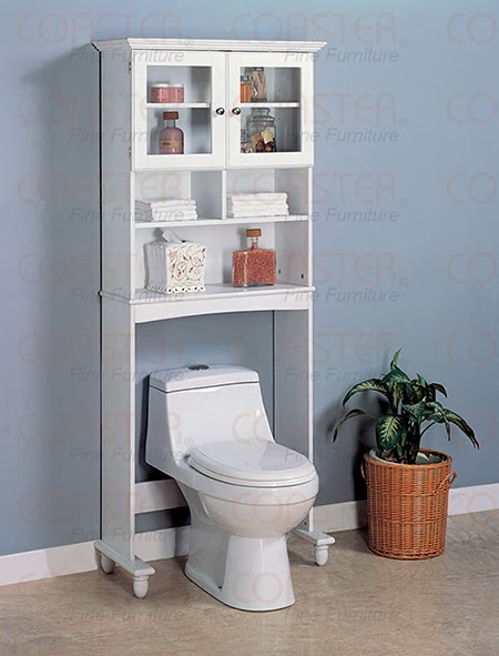 White Commode Shelf for toilet