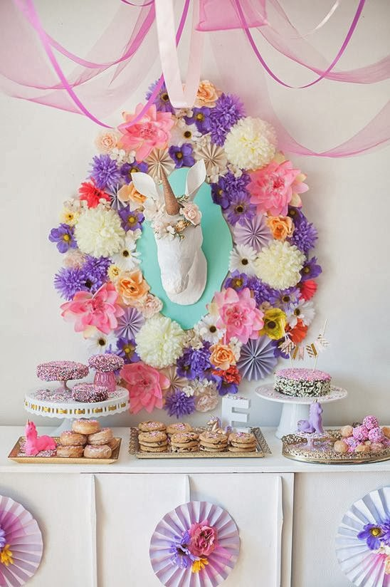 Pantone Color Of The Year Radiant Orchid unicorn centerpiece