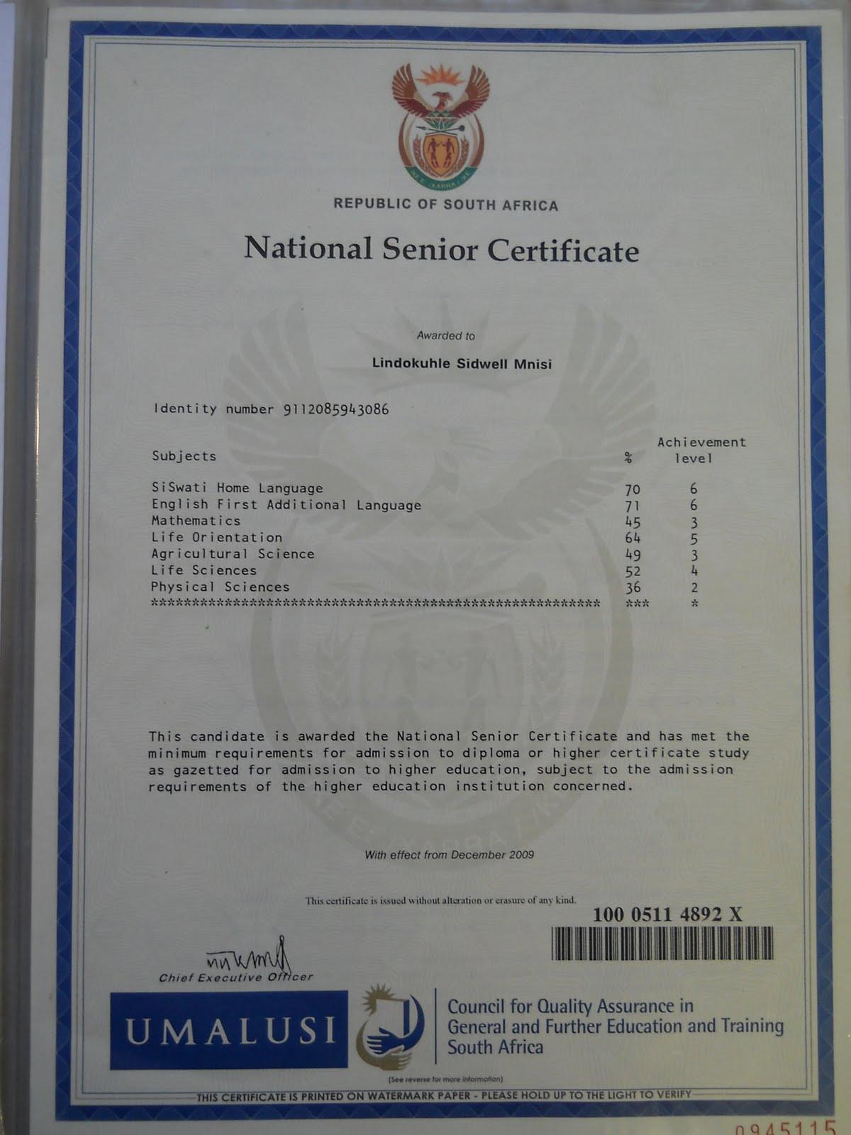 Julius Malema Matric Certificate | www.pixshark.com ...