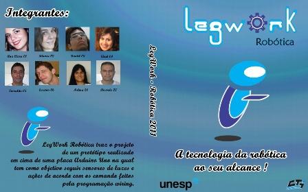 LegWork - Robótica: Banner, etiqueta e capa do DVD