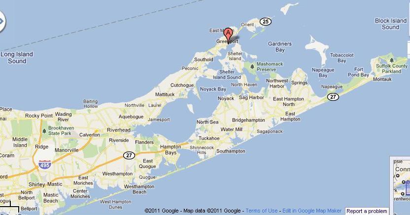 Map Of Greenport Long Island Ny