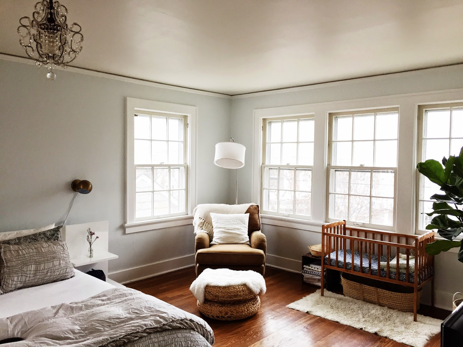 Homestead shared nursery master bedroom tour it 39 s for Master bedroom with attached nursery