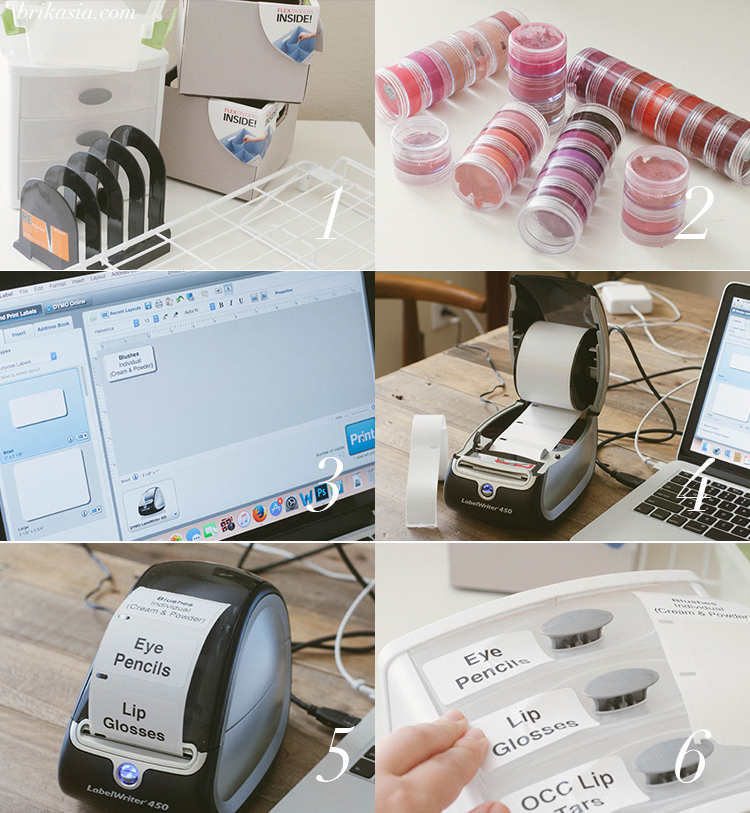 how to organize a small business, makeup storage tips, dymo labelwriter 450 review