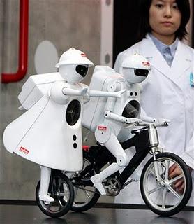 Gambar Robot bersepeda