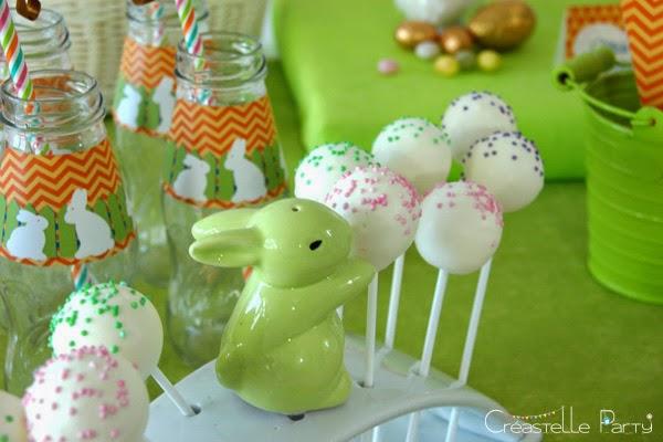 cake pops pour la Sweet table lapin de Pâques