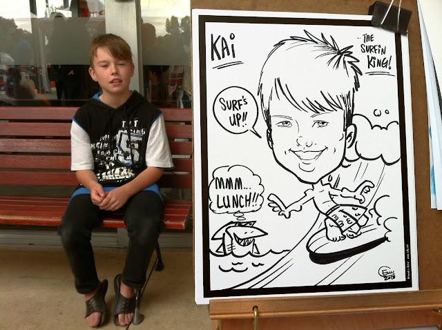 Esly\'s Sketch Blog: Wellington Village - Caricature Gigwellington village