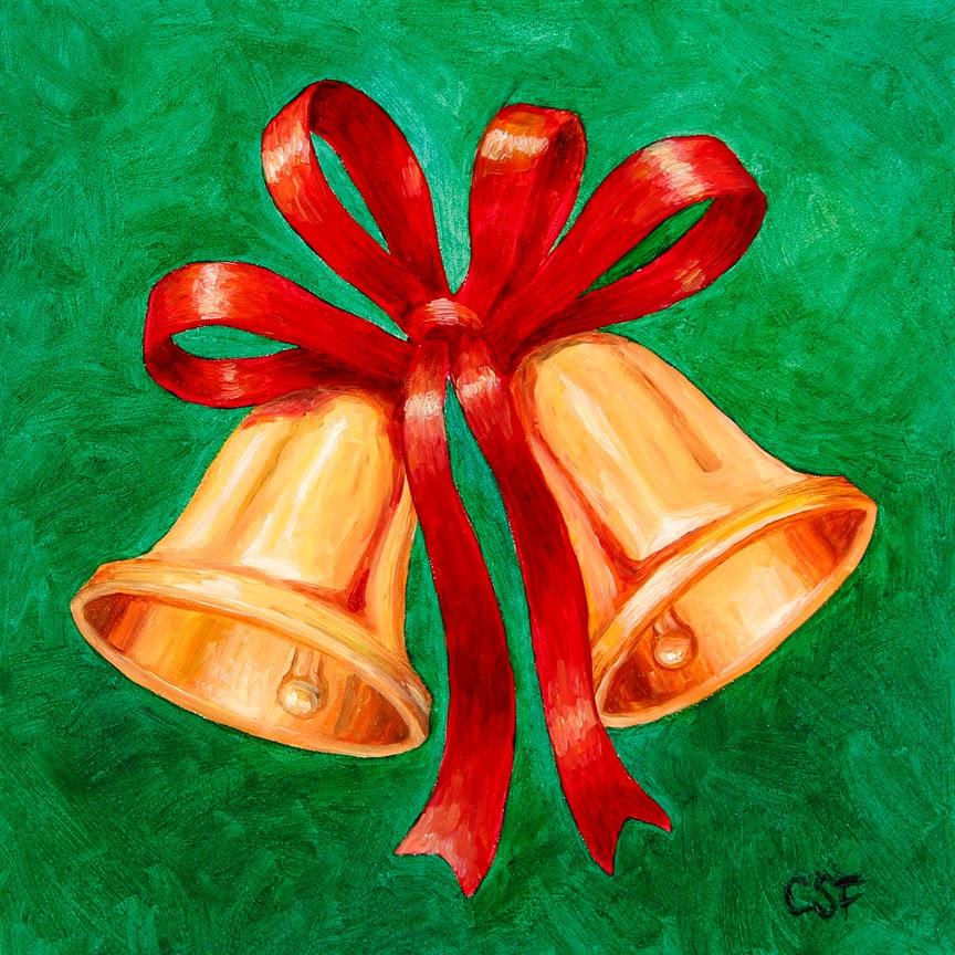 Miniature painting no 60 christmas bells