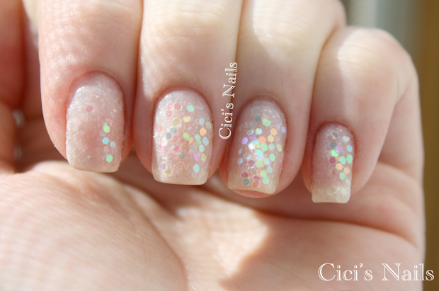 cici's nails diy white iridescent