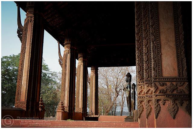 Photograph Monk Statue