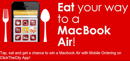 Get a Chance to win a 13-inch MacBook Air from Click the City