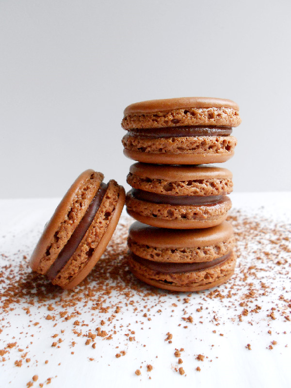 chocolate ganache french chocolate macarons with chocolate ganache