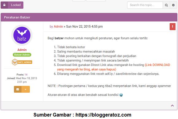 Forum Blogger - BloggerAtoZ com