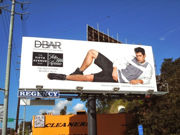 Saks Fifth Avenue DBar billboard