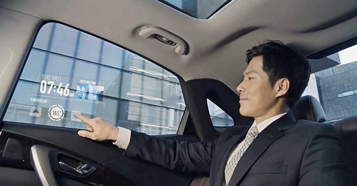 Samsung Smart Display Video Concept of Future - car's interactive display