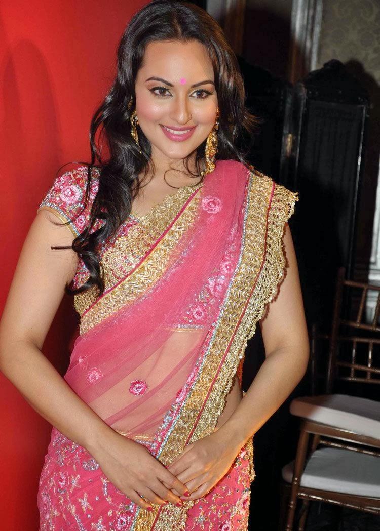 Sonakshi Sinha Saree Dresses And Makeup Styles