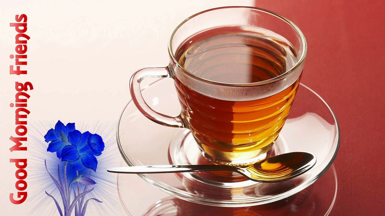 Good morning wish with cup of tea images