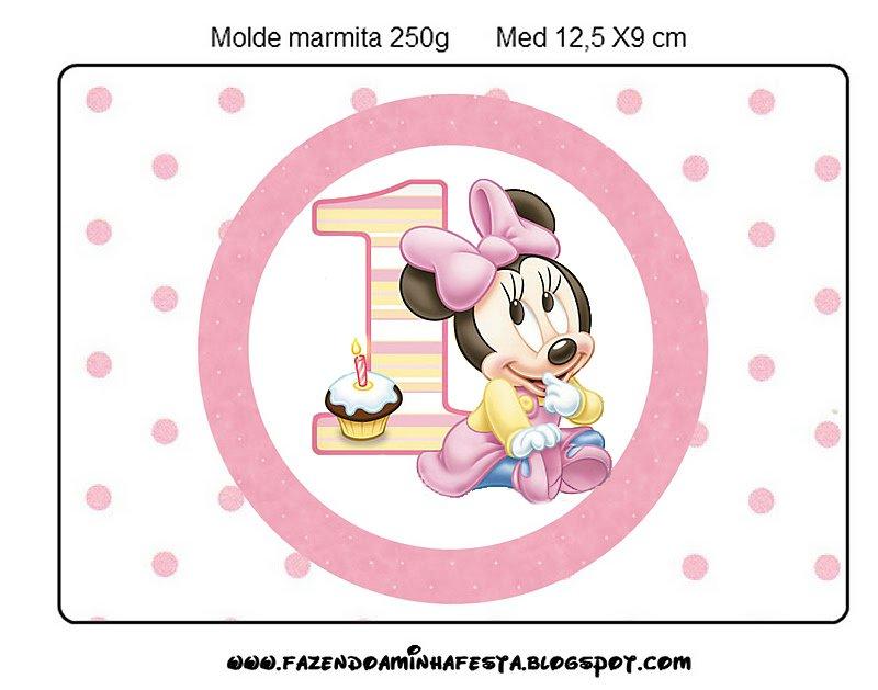 Invitaciónes de mi primer añito de Minnie - Imagui