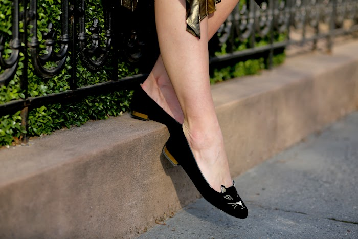 angelica ardasheva new york louis vuitton charlotte olympia kitty flats