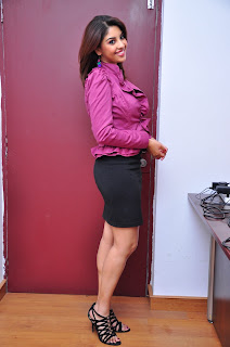 Richa Gangopadhayay Hot pics in Pink shirt and black Skirt