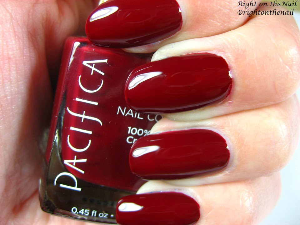 Right on the Nail: Pacifica 7-Free Nail Polish in Red Red Wine