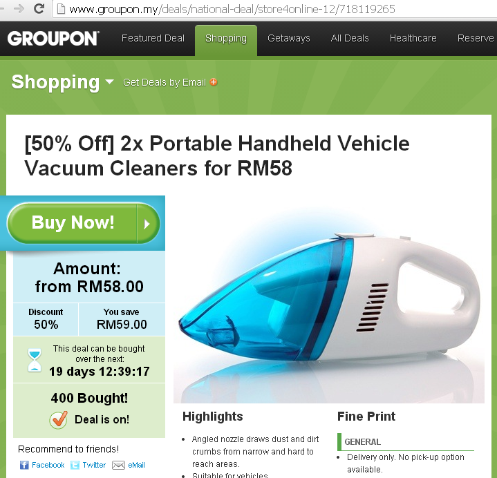 Portable Handheld Vehicle Vacuum Cleaners Groupon