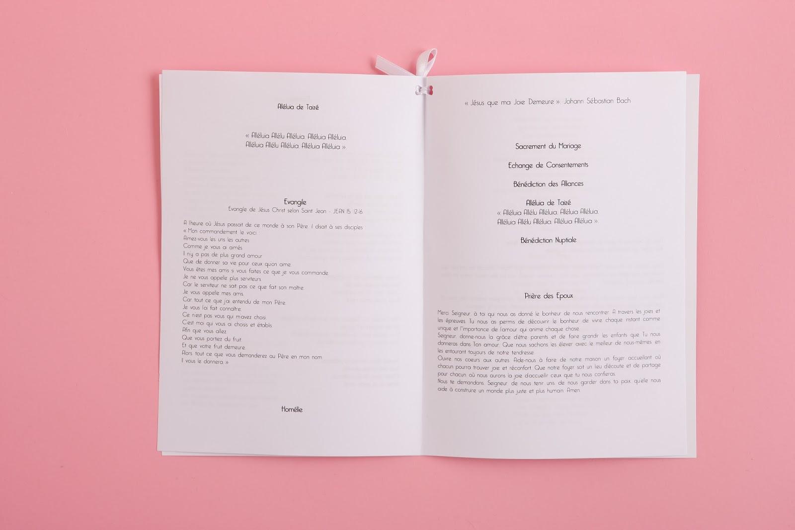 livret de messe mariage diy maison hope - Exemple De Livret De Messe Mariage