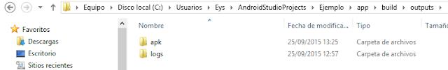 buscar la APK en nuestro computador