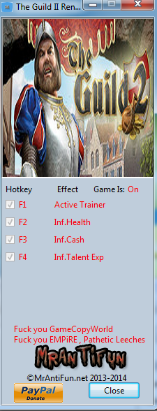The Guild II Renaissance V4.15 Trainer +3 MrAntiFun
