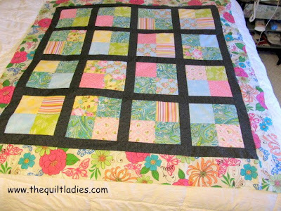 how to make a 4-patch quilt top