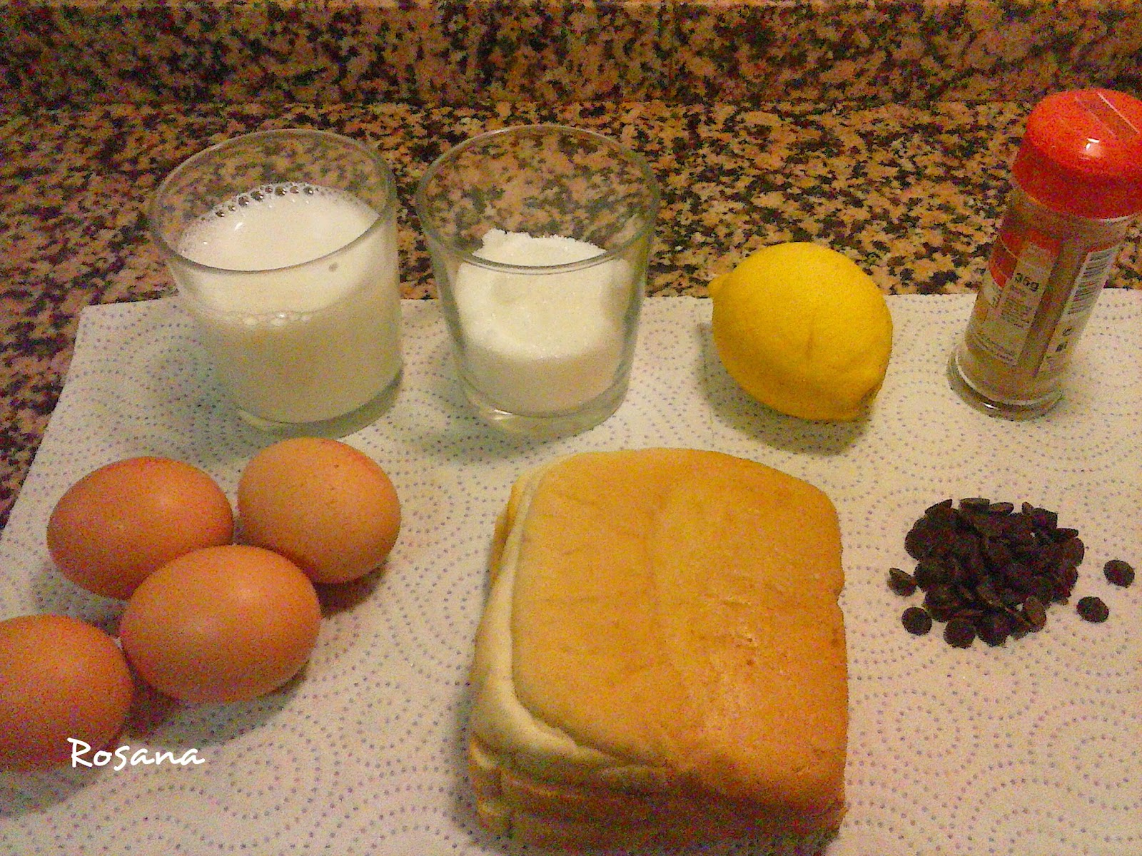Ingredientes pan de calatrava