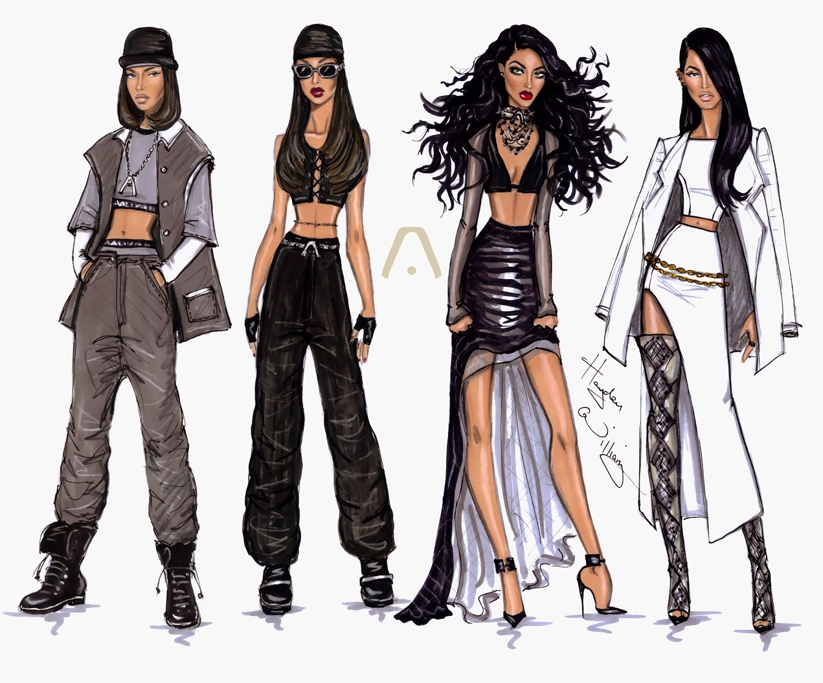 Aaliyah Illustrations By Hayden Williams Aaliyah Archives