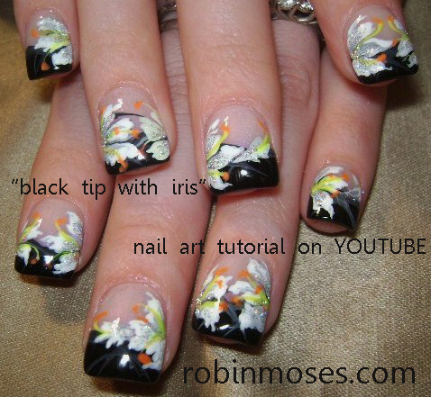 HARLEY DAVIDSON TUTORIAL HERE - Robin Moses Nail Art: Nails Done With Eyeshadow, Mac Eyeshadow