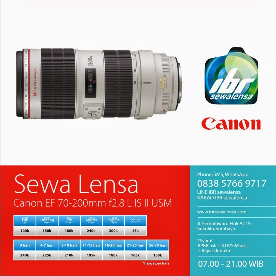 Canon 70-200 mm F2.8 L IS II USM