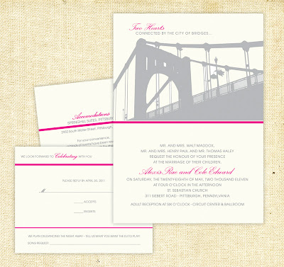 bridges wedding invitation