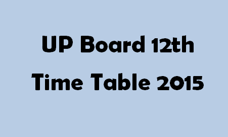 UP Board 12th Timetable 2015 Logo
