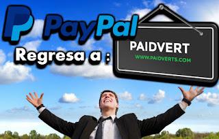 PayPal vuelve a Paidverts