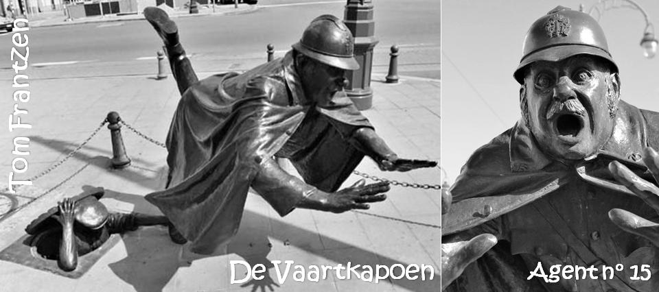 DE VAARTKAPOEN - Agent n° 15 - Scupture de rue de Tom Frantzen - Bruxelles-Bruxellons