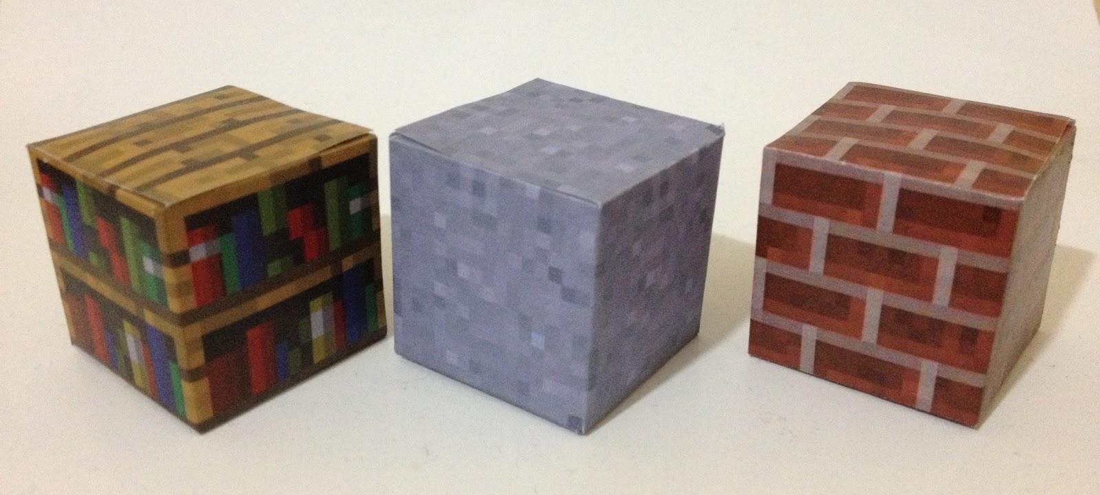 Mini at least papercraft minecraft xv estanter a for Como hacer una casa clasica de ladrillo en minecraft