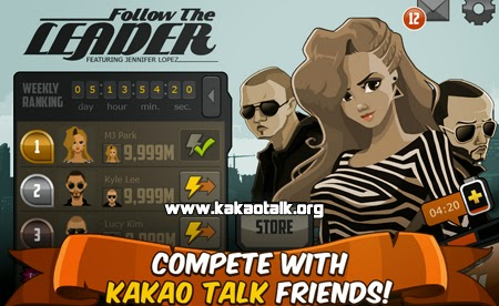Juega con Jennifer Lopez en Follow the Leader for KakaoTalk