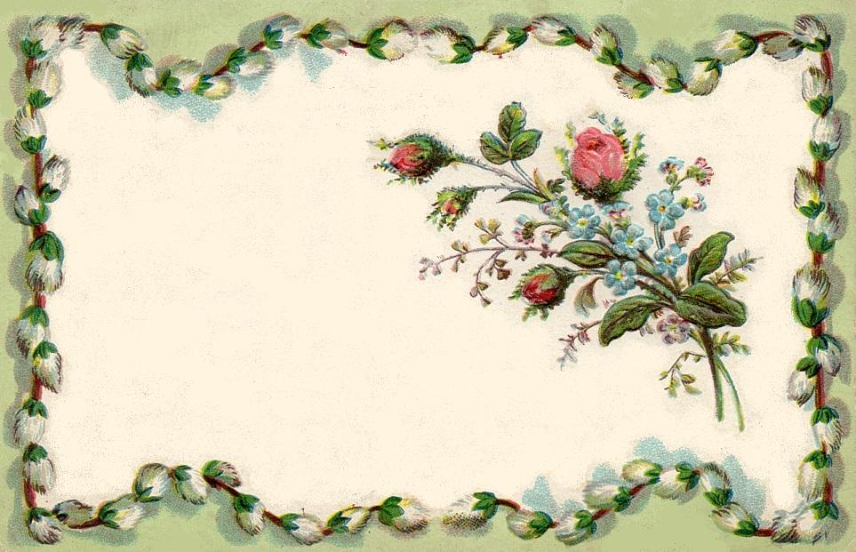 bumble button: Gorgeous antique French postcards with tiny rose buds ...